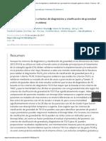 Criterios diagnósticos y clasificación de la colangitis aguda