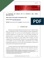 LA ESTAMPA DE BELLO EN LA POLÍTICA DEL CHILE REPUBLICANO