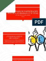 Mecanismos de Participación Politica, Cuidadana y Juvenil