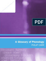 Glossary of Phonology
