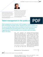 Talent Management in the Public Sector