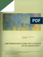 METODOLOGÍA PARA INVESTIGAR EN DERECHO