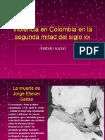 Violencia en Colombia en la segunda mitad del