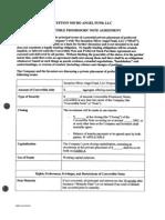 Convert Able Note Term Sheet