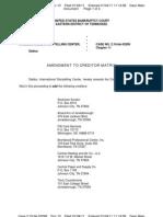 International Storytelling Center - Chapter 11 Bankruptcy Filings - Amended Creditor Matrix