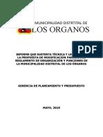 4.- INFORME QUE SUSTENTA LA PROPUESTA DE MODIFICACIÓN PARCIAL DEL ROF_MDLO PIURA