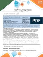 Syllabus del curso de Administración Financiera