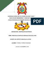 LAS PRINCIPALES CENTRALES HIDROELECTRICAS DEL PERU