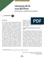 Loayza, Alex-El sesquicentenario de la independencia del Perú