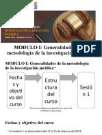 MODULO I_ Sesión 1 RUDIMENTOS DE LA METODOLOGIA DE LA INV. CIENTIFICA