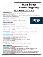 Westminster Maryland Main Street Weekend Happenings – January 7 and 8, 2011