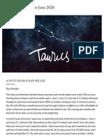 Taurus June 2020