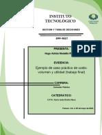CASO PRACTICO MEDELO COSTO, VOLUMEN Y UTILIDAD