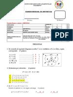 EXAMEN DE ARITMETICA 5TO - PRIM