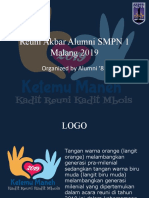 Reuni Akbar Alumni SMPN 1 Malang 2019