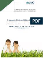 PROPUESTA PEDAGICA EDUCATIVA - PROPUESTA DE TECNICA Y HABITOS DE ESTUDIO.docx
