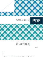 Word 2016 - Chapter 2