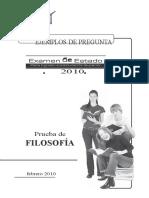 Ejemplos de preguntas - Prueba de filosofia 2010