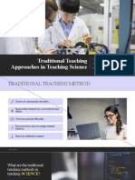Traditional Teaching Approaches in Teaching Science