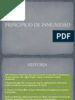 PRINCIPIOD DE INMUNIDAD