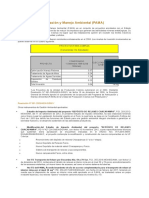 Programa de Adecuación y Manejo Ambienta PAMA