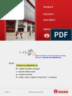 pdf Semana 5 Calculo 1 2020 1 Aplicaciones.pdf