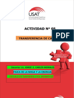 ACTIVIDAD N° 5 TRANSFERENCIA DE CALOR