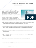 11 Safety Tips To Follow While Transmission Tower Erection