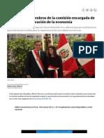 Coronavirus Perú _ Estos son los miembros de la comisión encargada de evaluar la reactivación de la economía _ COVID-19 nndc Economía _ Peru21