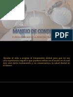 Manejo de Conducta en el paciente pediátrico marcado