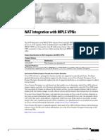 NAT Integration With MPLS VPNs
