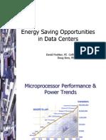 Energy Saving Data Centers