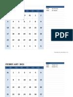 2021 Monthly Calendar Landscape 04