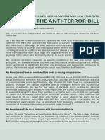 Bangsamoro Lawyers Statement on Anti-terrorism Bill