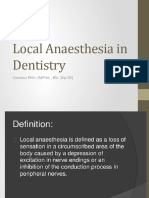 3. Local Anaesthesia in Dentistry