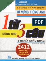 Chuyên Đề Rèn Luyện Từ Vựng Tiếng Anh 1 Từ Dùng Cho 3 Câu (3 Nghĩa Khác Nhau) - Vĩnh Bá.pdf