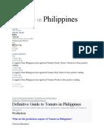 definitive guide tomato philippines