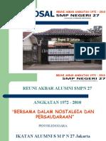 Proposal Reuni Akbar SMP Negeri 27 Jakarta