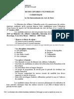 2019.04.29 Communiqué Ministère Culture Tunisie