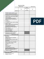 Bilan Excel