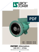 660-1000 kVA Alternator Datasheet