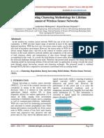 Energy Harvesting Clustering Methodology for Lifetime