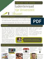 Studentenraad VUB - Non scholae sed vitae - december 2010