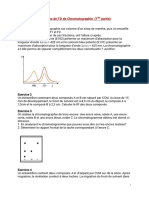 Exercices de TD de Chromatographie