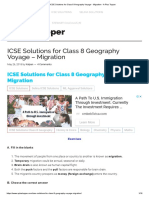 ICSE Solutions for Class 8 Geography Voyage - Migration - A Plus Topper