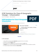 ICSE Solutions for Class 8 Geography Voyage - Urbanization - A Plus Topper
