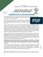 JORNADA DE LA VIDA POR NACER
