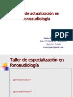 Taller de actualización en fonoaudiología