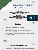 2. MEC331-Chapter-02 - Power Screw, Fastener