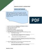 Grade 9 May 28, 2020 Activity and Instructions